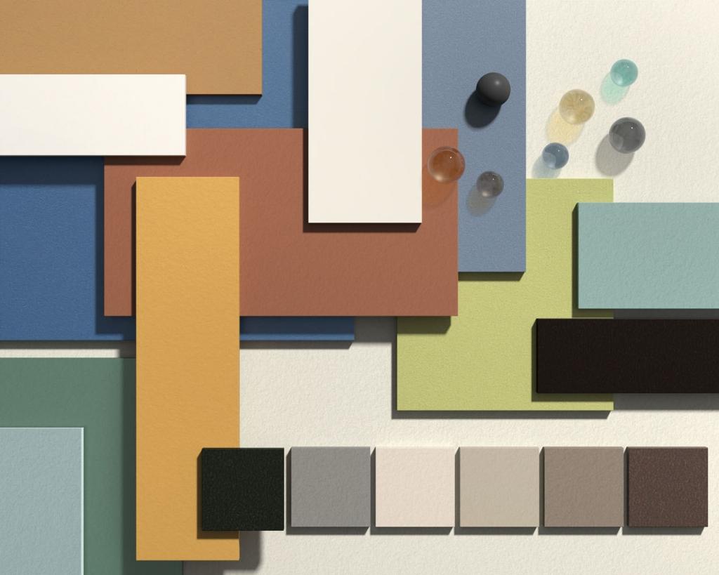 Moodboard per la pagina collezioni della serie Basic