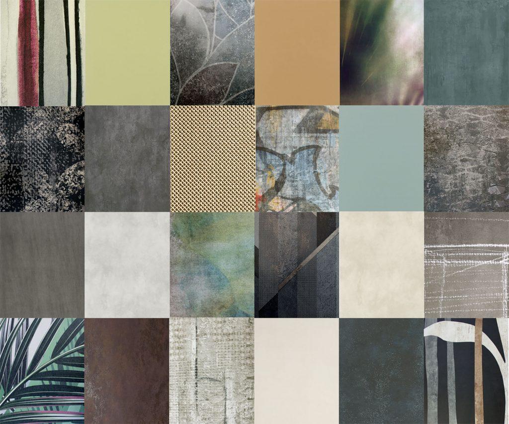 Composizione colori e collezioni lastre