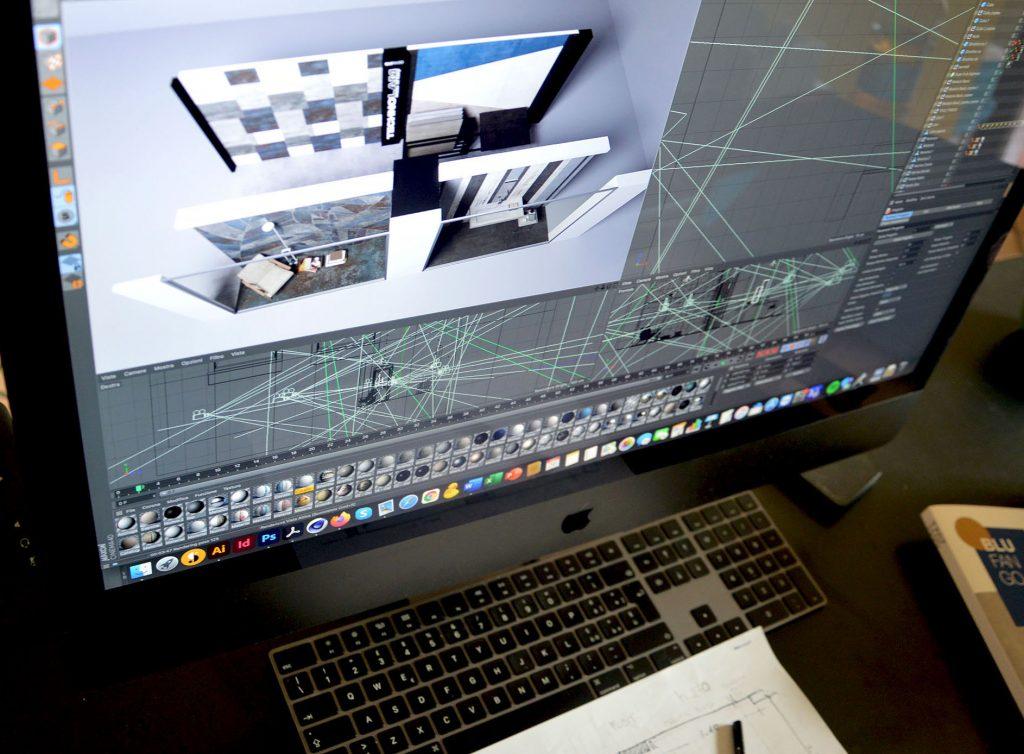 Render 3D progettazione lastre