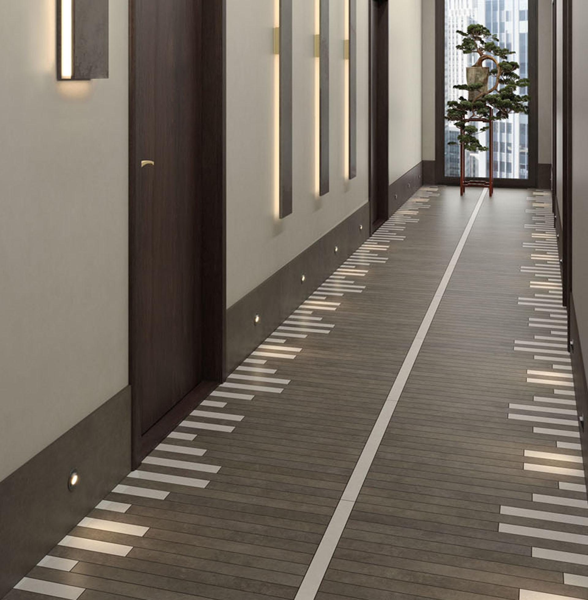 Pavimento con taglio Opificio lineare collezione Resine